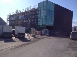 NYBYGG: I fjerde etasje i dette bygget skal TSS Hamar finne hus fra omlag 1. september.